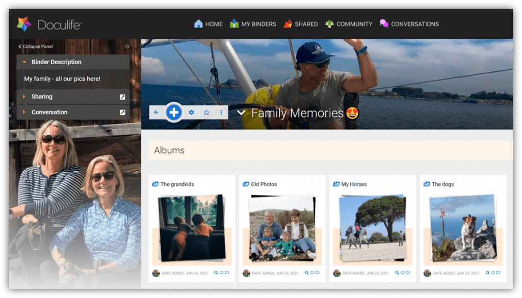 Put your photos in Albums