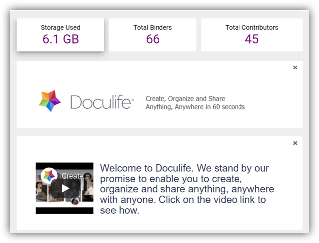 Free up space on your phone or hard drive by storing all your stuff inside Doculife.