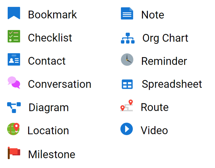 To help you with your planning, Doculife has a suite of productivity tools or widgets.