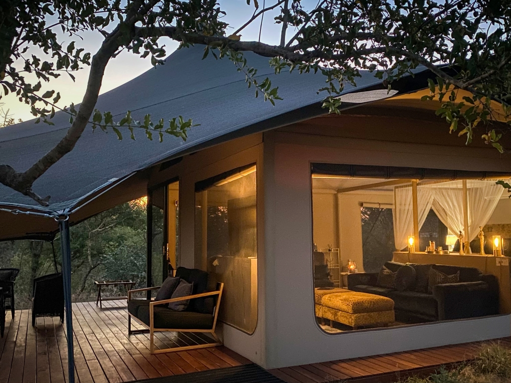 tented style accommodation