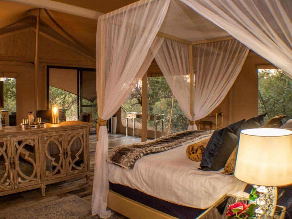 luxury tented style accommodation