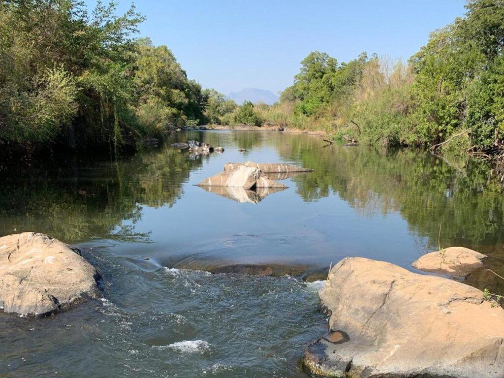 on the banks of the Sabi River